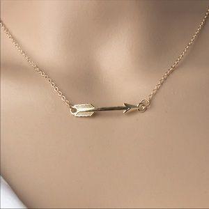 Jewelry - Boho Sideways Arrow Necklace